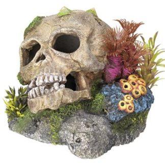 0930 Classic Castle Ruins 30 Ltr Biorb Aquarium Ornament, L13.5 x W12.5 x H22.5cm, Stone/Green Nobby Skull with Plants Aquarium Ornaments 135 x 135 x 105 cm 0 324x324